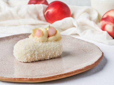 코코넛 복숭아 케이크